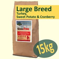 15kg *Grain Free* LARGE BREED Working Dog Food TURKEY, SWEET POTATO & CRANBERRY