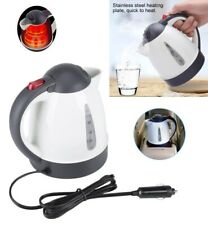 Car Electric Kettle Stainless Steel 1L 12V Heating Cup Coffee Milk Water Kettle