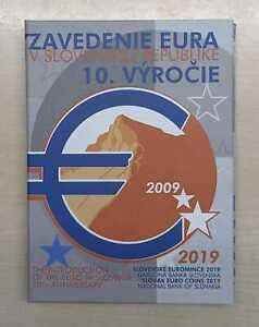Slowakei  Euro-KMS 10 Jahre Euro-Einführung 2019 PP  Nur 2.100 Stück!