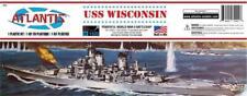Atlantis USS Wisconsin BB-64 Battleship 1:535 scale model kit 463