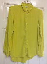 River Island Size 8 Womens Mustard Yellow Blouse Shirt Top
