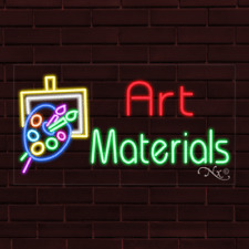 Brand New Art Materials Withlogo 37x20x1 Inch Led Flex Indoor Sign 31656
