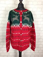 URBAN RENEWAL VTG AZTEC 90'S GRANNY KNIT OVERSIZED NORWEGIAN CARDIGAN SWEATER S