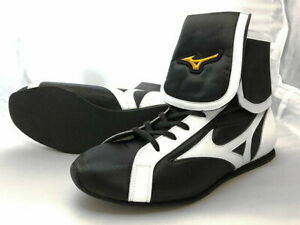 Authentic Mizuno Boxing Shoes Short Black × White from JAPAN BTO F/S NEW 2