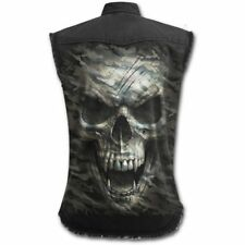 Spiral Direct CAMO-SKULL SLEEVELESS STONE WASHED WORKER/Shirt/Army/Military/Top