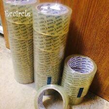 "12 Rolls 2"" x 55 Yards Carton Sealing Clear Packing Tape Box Shipping - 2 mil"