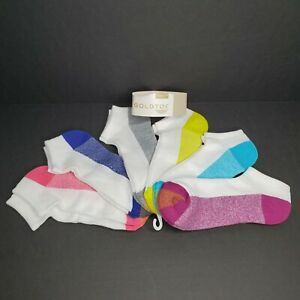 GOLD TOE  6 Pack Cushion Liner Socks Multi Color 6 Pair Womens Shoe Size 6-9 New