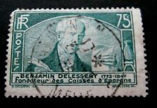 France-1935-Benjamin Delessert 75c Green-Used