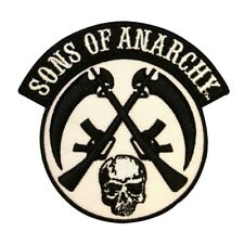 Sons Of Anarchy Crossed Guns Patch Biker Badge Skull Embroidered IronOn Applique