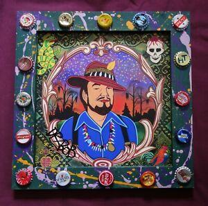 DR. JOHN Signed Giclee Print, New Orleans Louisiana Outsider Folk Art by DR. BOB