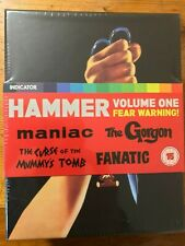 Hammer Volume One/1. Fear Warning. Indicator Box Set OOP. New & Sealed. Blu Ray
