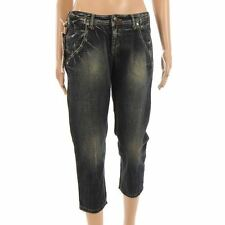 Capri,Cropped Indigo,Dark Wash Jeans Plus Size for Women
