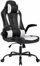 Racing Gaming Chair Ergonomic Leather Swivel Office Computer Desk Seat With Foot