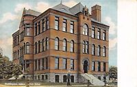 HUNTINGTON INDIANA HIGH SCHOOL POSTCARD 1910s