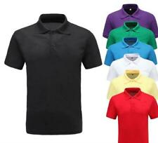 NEW MENS CASUAL GOLF SPORT  Breathable TOPS POLO SHIRT Cotton Lapel Neck T-Shirt