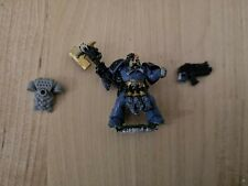 Warhammer 40k Space Wolves Long Fang Sergeant With Axe Metal