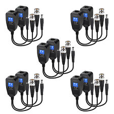 10 PCS Passive Video Data Power PVD Balun Transceivers UTP RJ45 for CCTV Cameras