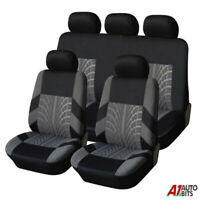 RENAULT CLIO FULL LEATHER LOOK CAR SEAT COVER SET BLACK 09-13