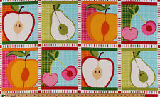 "23.75"" X 44"" Panel Metro Market Fruit Summer Cotton Fabric Panel D481.11"