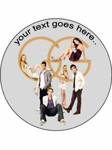 Gossip Girl netflix series personalised wafer / Icing edible Round Cake topper