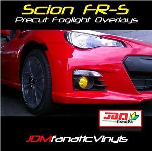 Fits: 13-18 BRZ Scion FRS Yellow Fog Light Overlays Tint JDM Precut GT86 wrap
