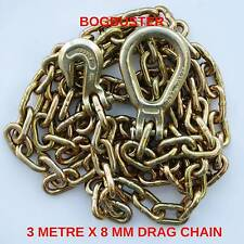 DRAG CHAIN WINCH RECOVERY 3 METRE X 8 MM G70 BOGBUSTER OFF ROAD 4X4 KIT 7600KG