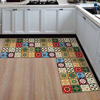 2Pc Modern 3 Color Soft Area Rug Non Slip Home Kitchen Floor Washable Carpet Rug