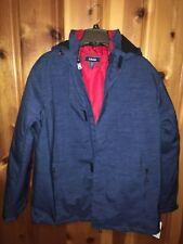 Men's IZOD 3 in 1 System Jacket Size Large - Blue/Red Lining