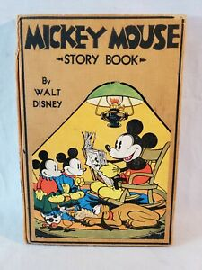 1st Edition Hard Cover 1931 Mickey Mouse Story Book by Walt Disney NO Reserve