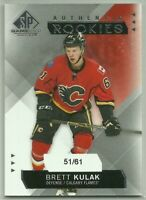 2015-16 SP Game-Used #201 15-16 UD Portfolio Authentic Rookies Brett Kulak 51/61