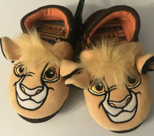 The Lion King Simba Slippers  Toddler Boys Size 7-8