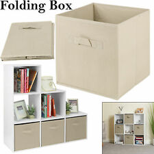 Foldable Canvas Storage Collapsible Folding Box Fabric Cube Cloth Basket Bags