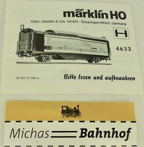 4633 Manual Märklin 68 403 To 1186 Ru H0 Å