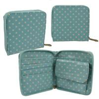 Ladies Compact Oil Cloth Polka Dot Purse/Wallet by Leonardo; Dotty Collection Ch