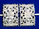 Antique Chinese Ornate Silver Hair Pin Ornaments x 2