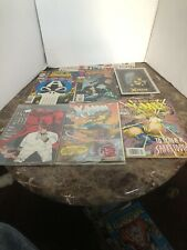 6 Xmen Punisher sabretooth Man Without Fear Captain America Marvel Comic Lot