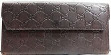 Auth Gucci Envelope Clutch Brown Color Leather Guccissma