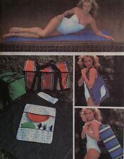 McCalls 7583 Sewing Pattern Beach Mat Yoga Exercise Picnic Tote Duffle Bag