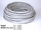NYM-J Kabel 3x1,5 3x2,5 5x1,5 5x2,5 Leitung Elektroleitung 10-20-50-100 meter