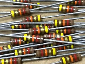 (10 PC)  AB  RCR07G123JS  Resistor Carb Comp 1/4W 12K OHM 5% S-Level