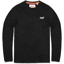 Superdry Men's Longsleeved Orange Label Vintage T-shirt Black X-large
