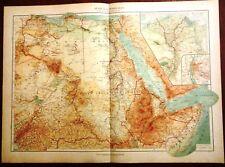 Carta geografica antica AFRICA NORD EST SOMALIA De Agostini 1927 Antique map