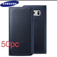 Lot Of 50pc Samsung Galaxy S6 Edge Original Flip Case Color Blue
