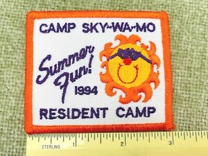 1994 Sky-Wa-Mo Summer Girl Scout Resident Camp Embroidered Patch New