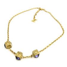 Louis Vuitton Gamble Gold Tone Necklace /90843