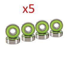 Abec-7 Green Skateboard Bearings 8 pcs (Set of 5)
