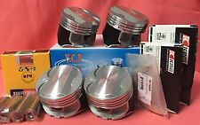 YCP P29 75.5mm 050 Teflon Coated Pistons High Comp+ Bearing +NPR Rings Honda D16