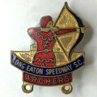 Long Eaton Speedway Supporters Club The Archer Enamel Badge 1967 gladman