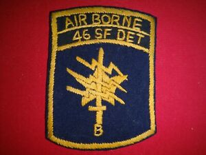 Hand Made Patch US 1st SFGrp 46th Special Forces Company Det B In Thailand