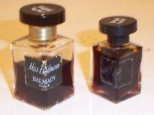 Vtg Miss Balmain Parfum 2 Btl: Partial Half Oz & Full 1/4oz Made in France